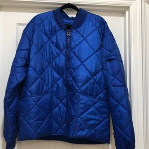 NWOT Elsinore Quilted Royal Blue Jacket Size L